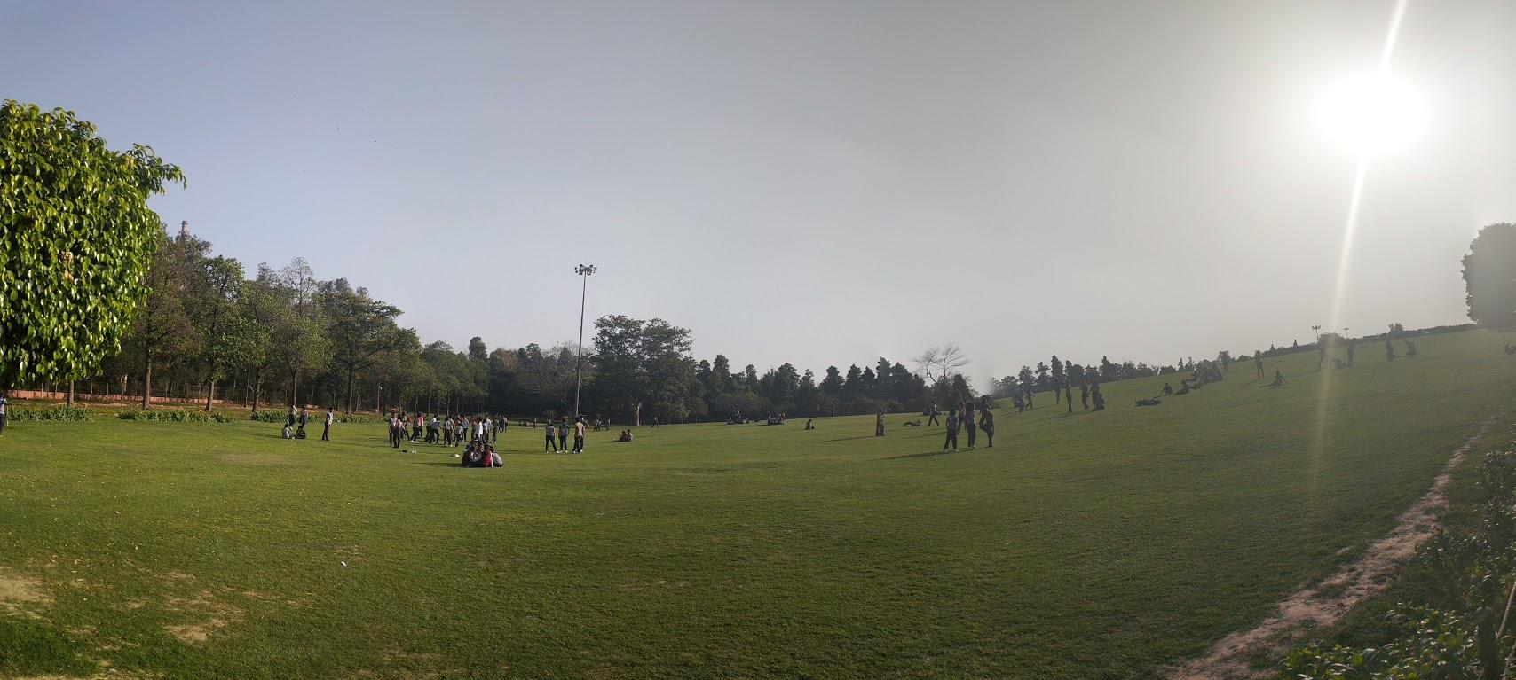 Spring in Delhi: Rajghat Panorama