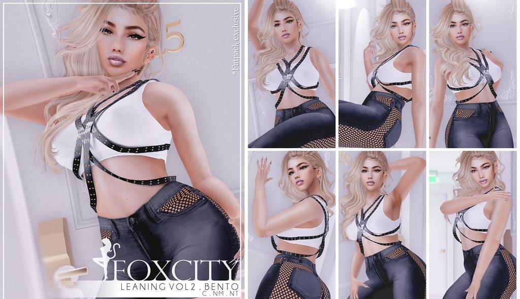 FOXCITY. Leaning Bento Pose Set @ Kustom9 - TeleportHub.com Live!