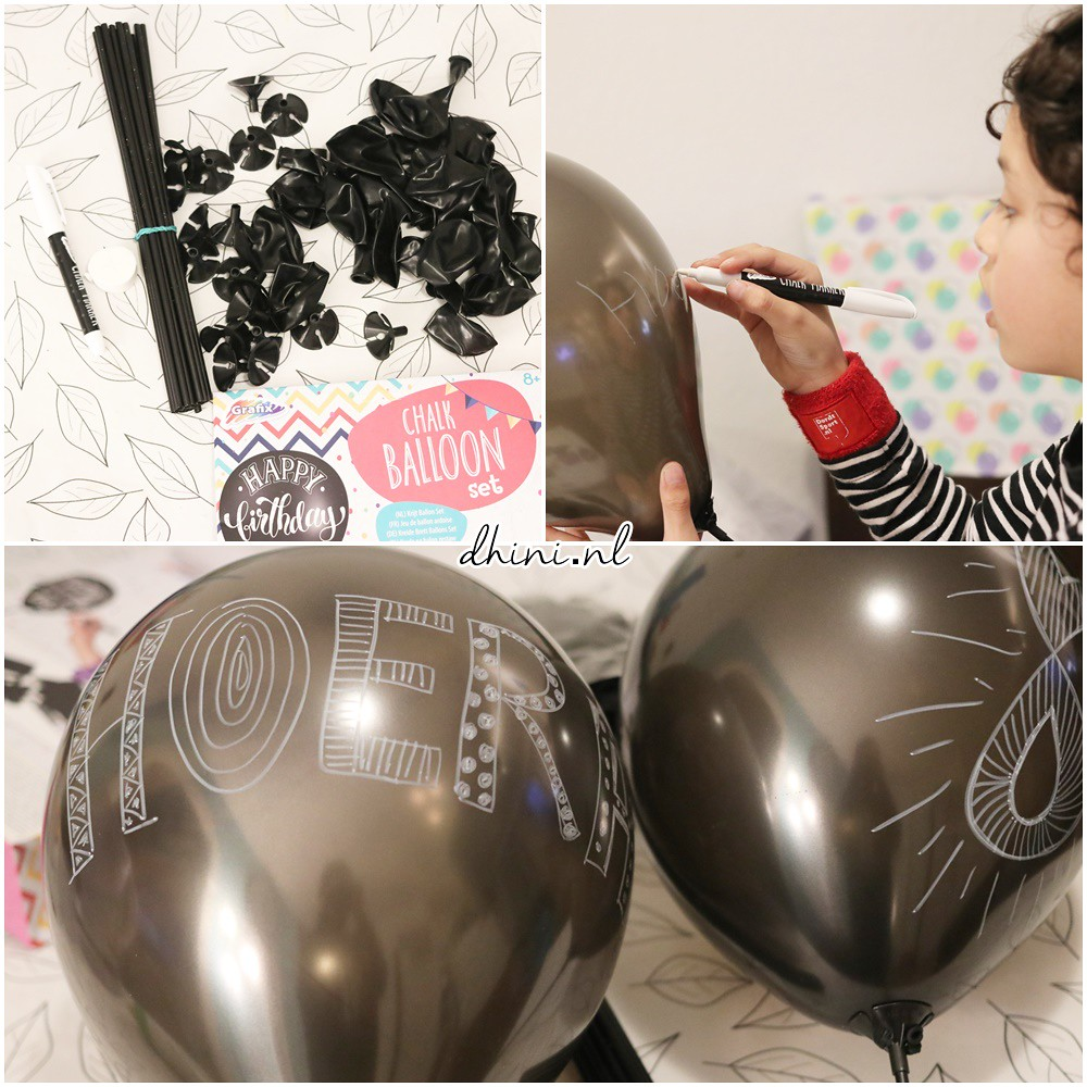 2018 DIY Chalk ballon