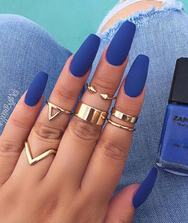 97+ Dark Nails 2018 Trends from Instagram - Fashion 2D