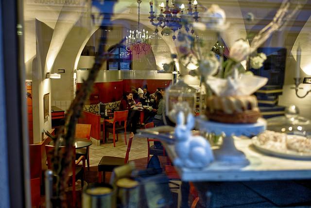 Pause in einem Café