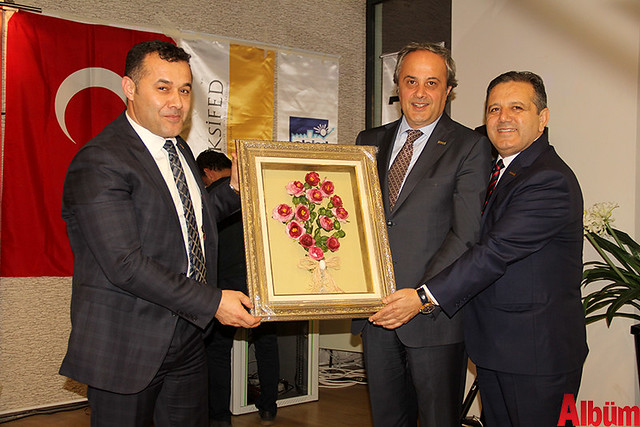 Alanya Belediye Başkanı Adem Murat Yücel, Batı Akdeniz Sanayi ve İş Dünyası Federasyonu Başkanı Ali Eroğlu, ALSİAD Yönetim Kurulu Başkanı Akın Tabaklar