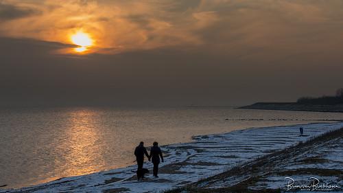 Romantic on the winter beach