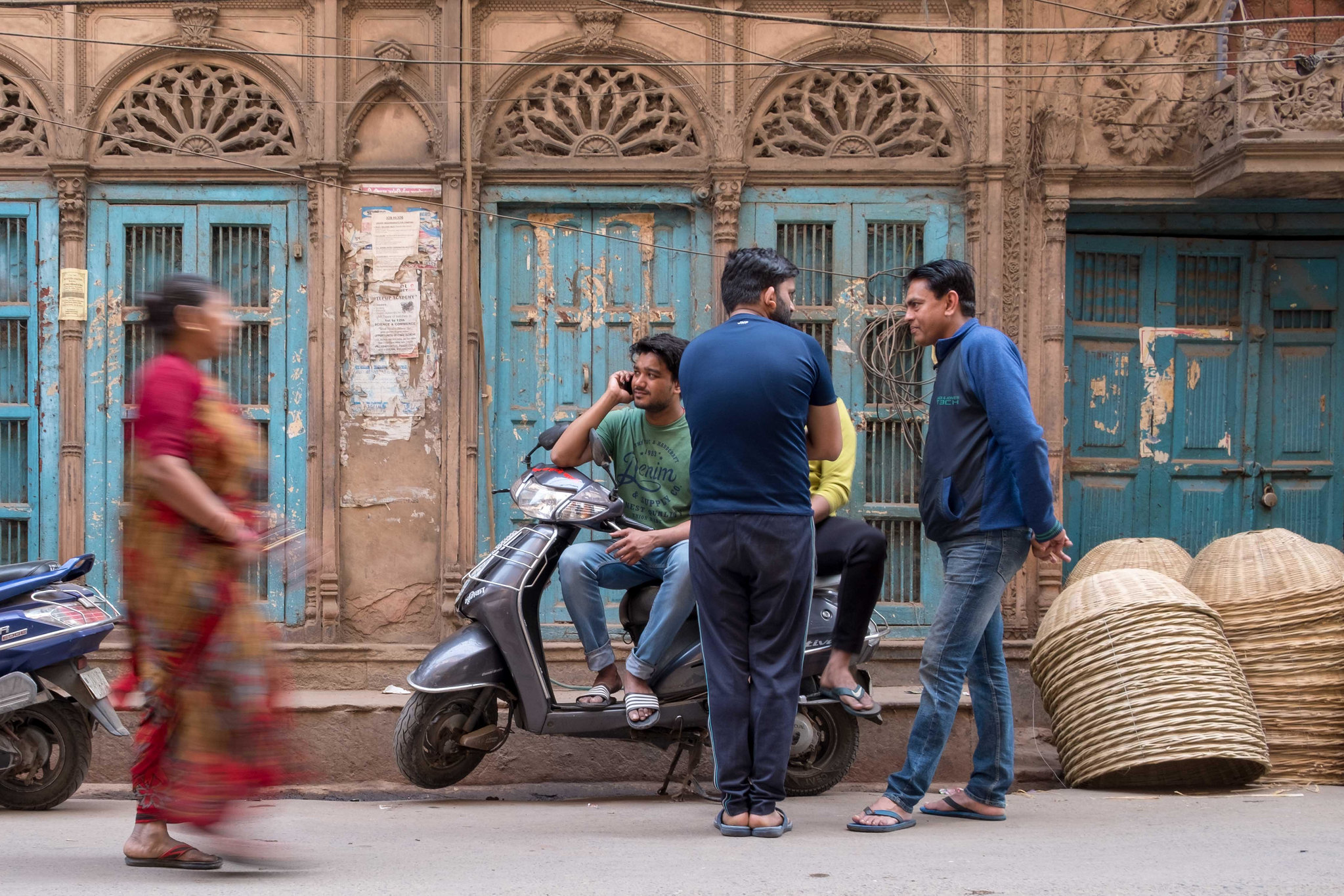 Street life in Old Delhi