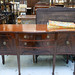 Bow front mahogany 2 door sideboard