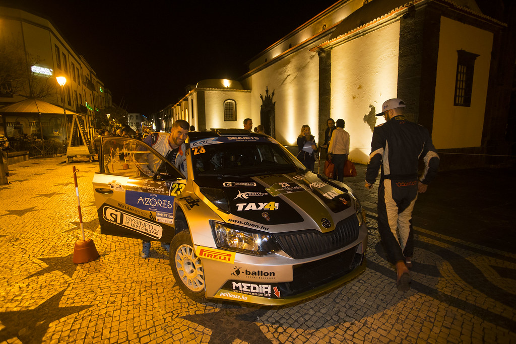 23 BOTKA David (hun), MESTERHAZI Mark (hun), SKODA FABIA R5, portrait during the 2018 European Rally Championship ERC Azores rally,  from March 22 to 24, at Ponta Delgada Portugal - Photo Gregory Lenormand / DPPI