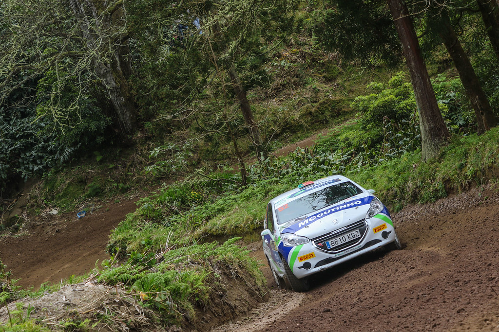 52 GAGO Diogo (prt),RAMALHO Miguel (prt), Peugeot 208 R2, action during the 2018 European Rally Championship ERC Azores rally,  from March 22 to 24, at Ponta Delgada Portugal - Photo Jorge Cunha / DPPI