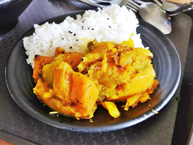 Roasted Pumpkin With White Rice
