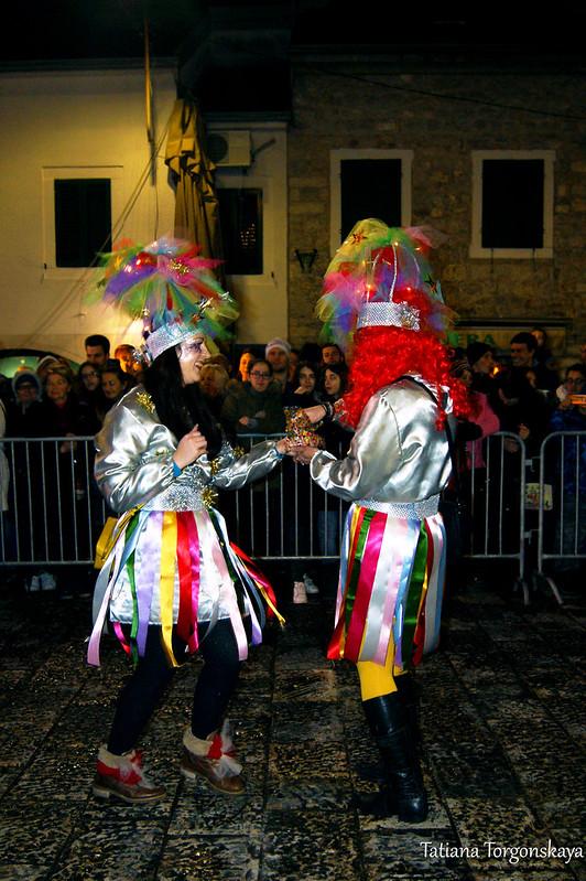 Выступление карнавальной группы из Риеки