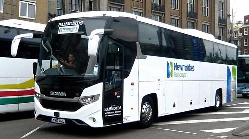 YN17 OHL 'Hammonds' of Nottingham. Scania K410EB4 / Higer Touring on 'Dennis Basford's railsroadsrunways.blogspot.co.uk'