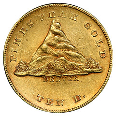 1860 Clark Gruber Mountain $10 Gold obverse