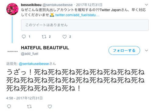 とある選択的夫婦別姓反対派の攻撃的なツイート