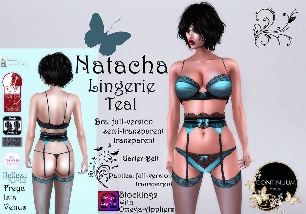 Continuum Natacha Lingerie Teal
