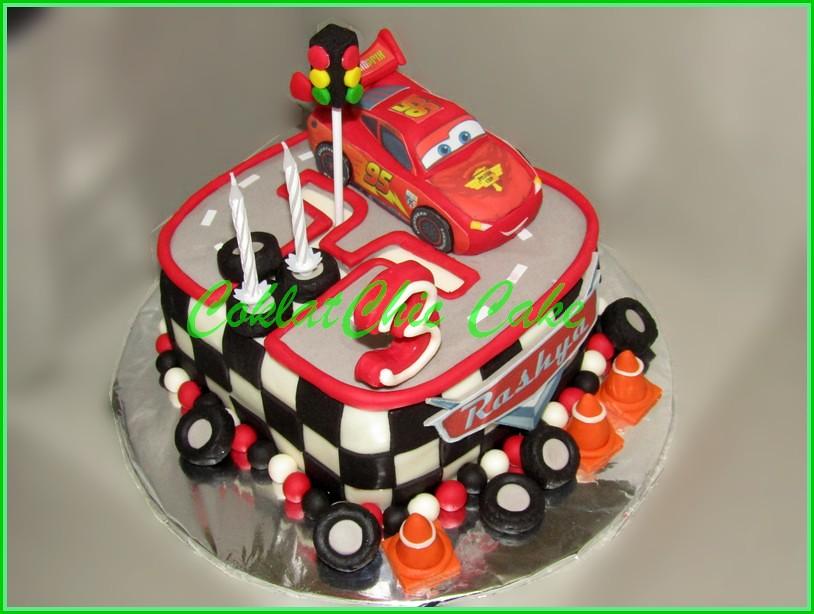 Cake angka 3 Lightning McQueen RASHYA 15 cm