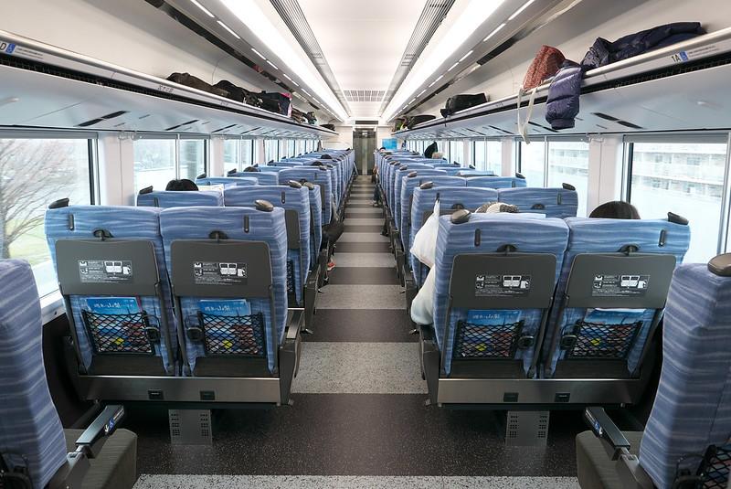長野旅行 E353の車内 2018年3月21日