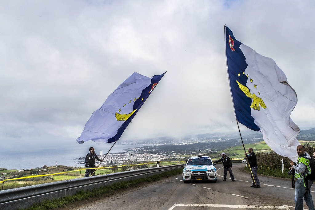 39 PIMENTEL Luis (prt), MOURA Nuno (prt), MITSUBISHI LANCER EVO X, action during the 2018 European Rally Championship ERC Azores rally,  from March 22 to 24, at Ponta Delgada Portugal - Photo Gregory Lenormand / DPPI