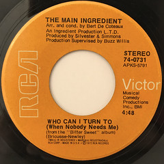 THE MAIN INGREDIENT:EVERYBODY PLAYS THE FOOL(LABEL SIDE-B)