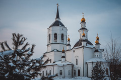 Tomsk. Russia. Church of the Kazan Icon of the Blessed Virgin. Theotokos-Alexievsky Monastery.