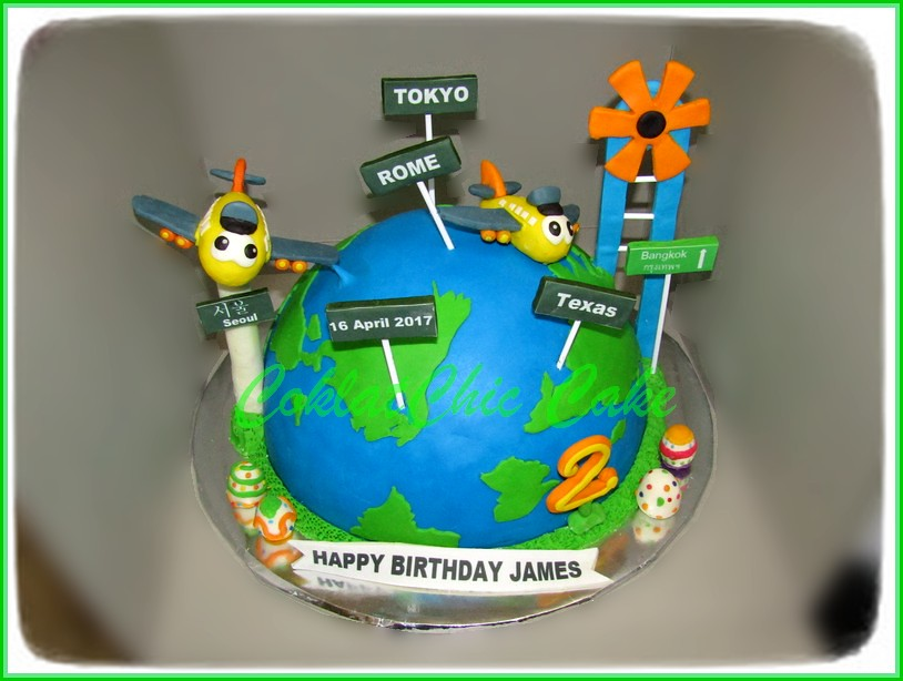 Cake Arund the Globe JAMES 30 cm