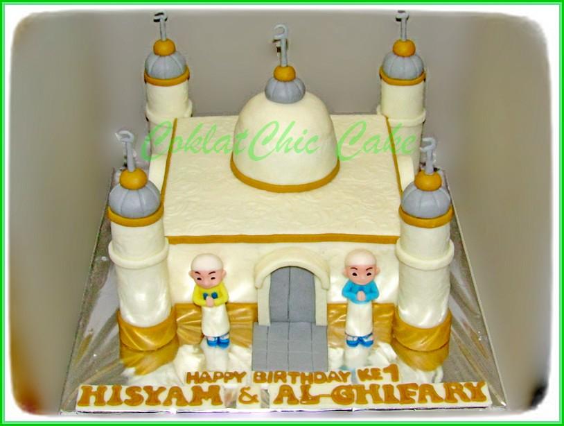 Cake Ipin Upin Masjid HISYAM & AL-GHIFARY 15 cm