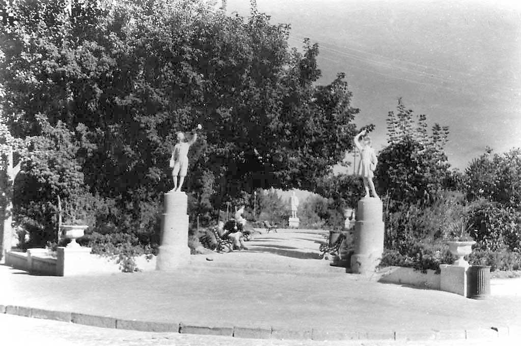 Аллея Пионерского парка, 1950-е годы