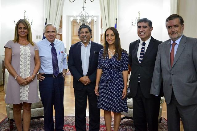 Ministro Chadwick se reúne con presidentes de partidos de Chile Vamos en La Moneda | 13.03.18