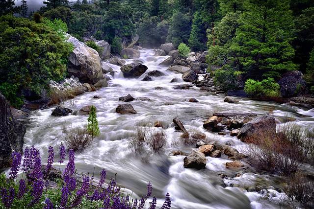 Big Sky Filter of the Merced River (Yosemite National Park)