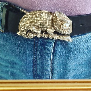 New belt with buckle