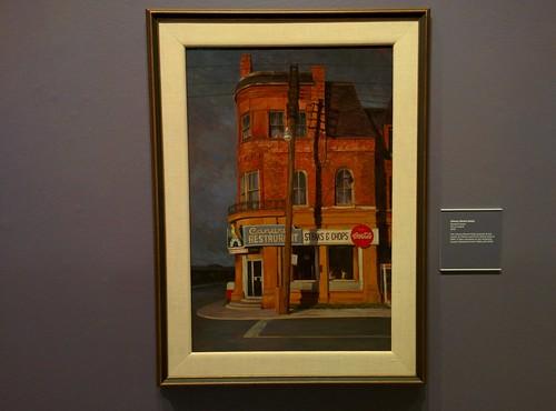 Cherry Street Hotel, 1978 #toronto #tdgallery #gerardlazare #cherrystreethotel #frontstreet #cherrystreet #painting #torontorevealed #torontoreferencelibrary #latergram