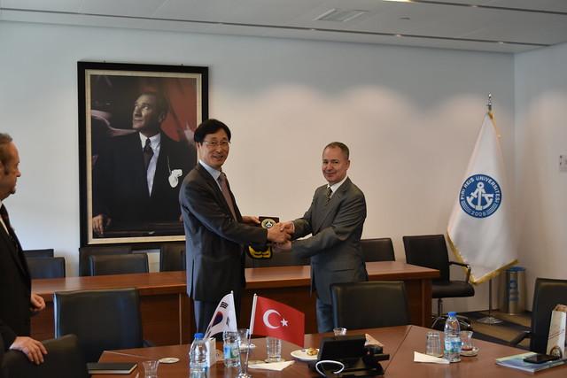 Güney Kore Denizcilik ve Okyanus Üniversitesi Rektörü Hanil Park'ın Ziyareti