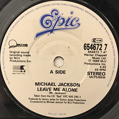 MICHAEL JACKSON:LEAVE ME ALONE(LABEL SIDE-A)