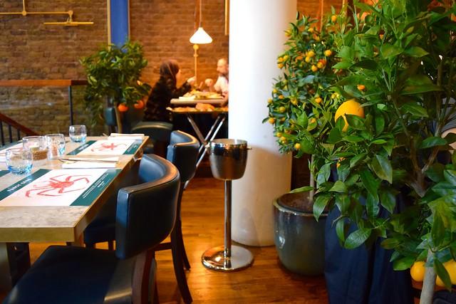Dining Room at Fancy Crab, Marylebone