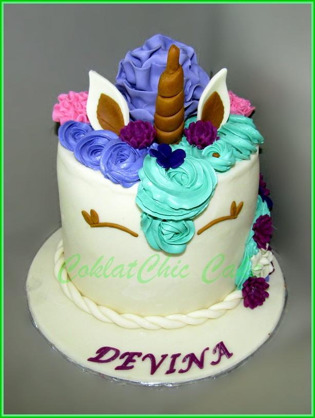 Cake Unicorn DEVINA 3 set  ukuran 15 cm