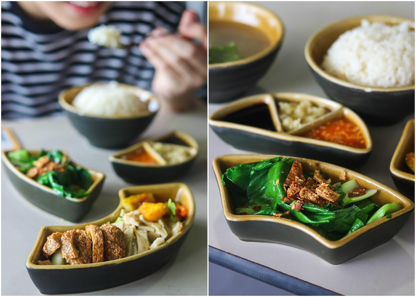 33 Vegetarian chicken rice set