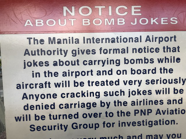 No bomb jokes please