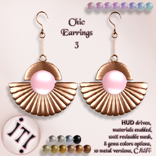 !IT! - Chic Earrings 3 Image - TeleportHub.com Live!