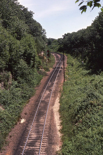 View from the Top at Tunnel City WI  6-30-82