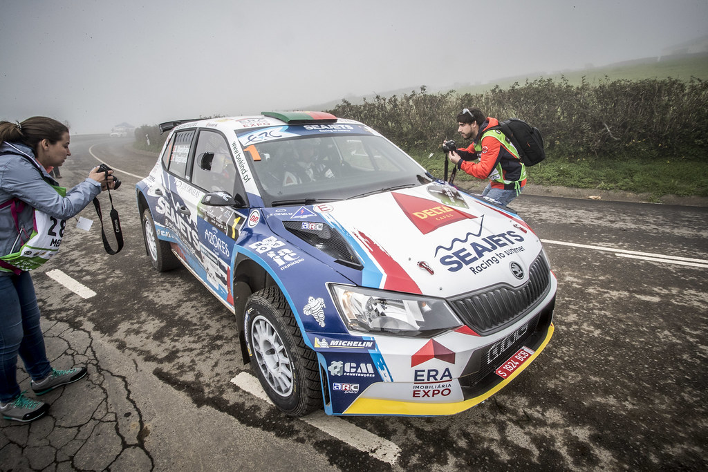 01 MAGALHAES Bruno (prt), MAGALHAES Hugo (prt), SKODA FABIA R5, action during the 2018 European Rally Championship ERC Azores rally,  from March 22 to 24, at Ponta Delgada Portugal - Photo Gregory Lenormand / DPPI