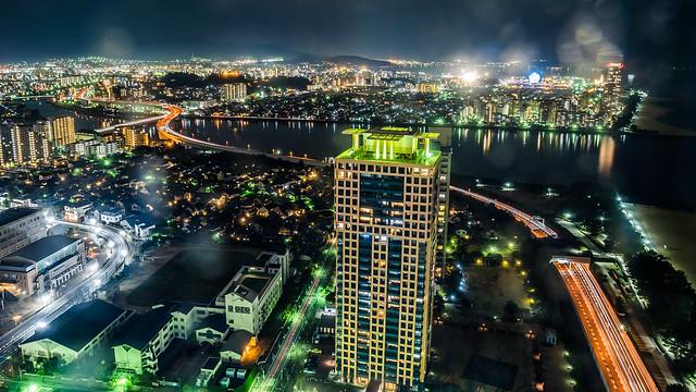福岡タワー - 夜景