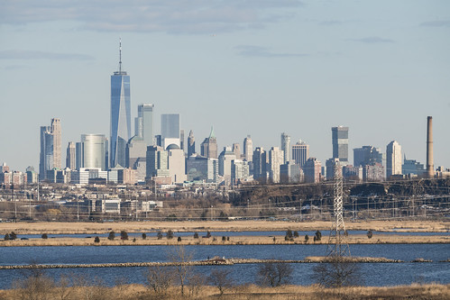 bergencounty newjersey northjersey nj meadowlands meadows marsh marshlands wetlands newyork newyorkcity manhattan downtown worldtradecenter wtc freedomtower lowermanhattan skyline city landscape vista hackensackriver