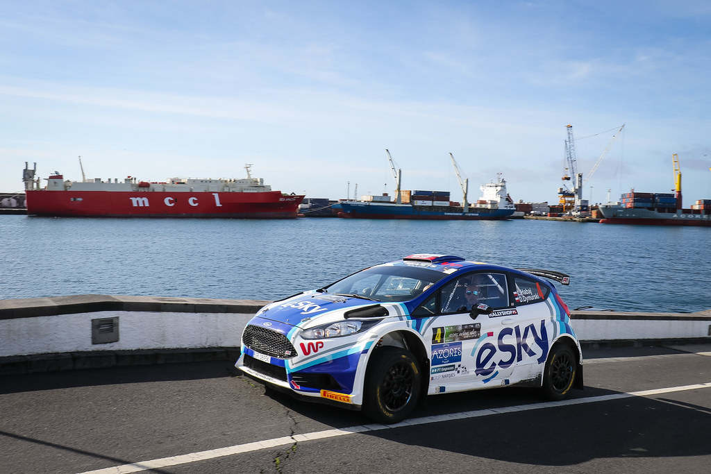 04 HABAJ Lukasz (pol), DYMURSKI Daniel (pol) , RALLY TECHNOLOGY, FORD FIESTA R5, portrait  during the 2018 European Rally Championship ERC Azores rally,  from March 22 to 24, at Ponta Delgada Portugal - Photo Jorge Cunha / DPPI