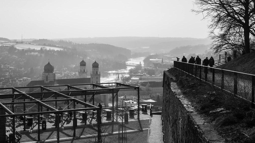 Passau, Blick von der Veste Oberhaus
