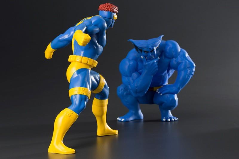 野獸戴起「圓眼鏡」真的好有趣啊~ 壽屋 ARTFX+ 系列 Marvel Universe【獨眼龍&野獸 雙人套組】サイクロプス&ビースト 2パック
