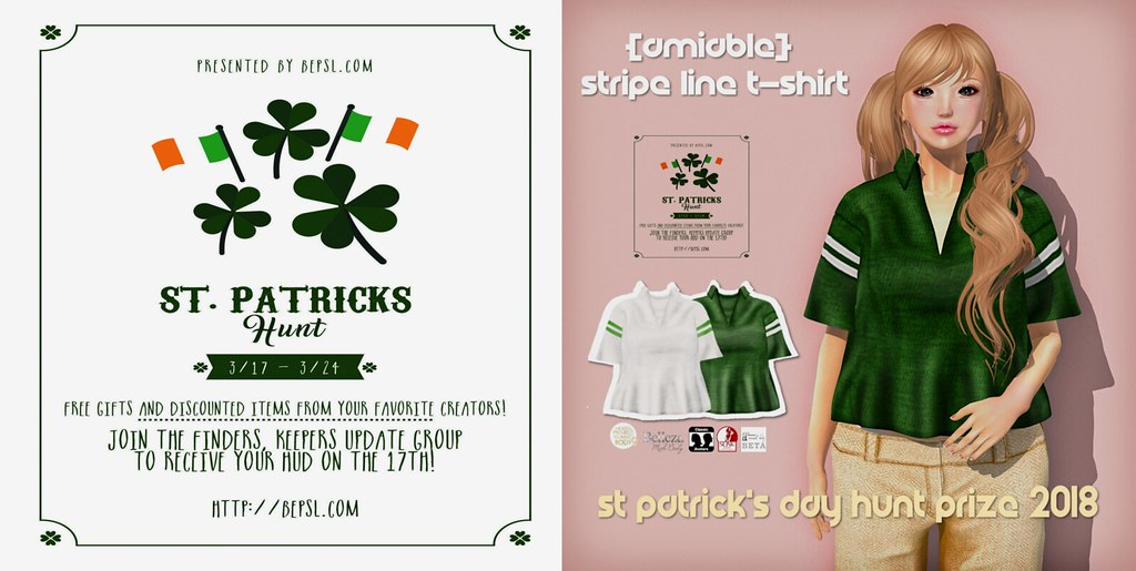 {amiable}St Patrick's Day HUNT2018 Prize@the main store. - TeleportHub.com Live!