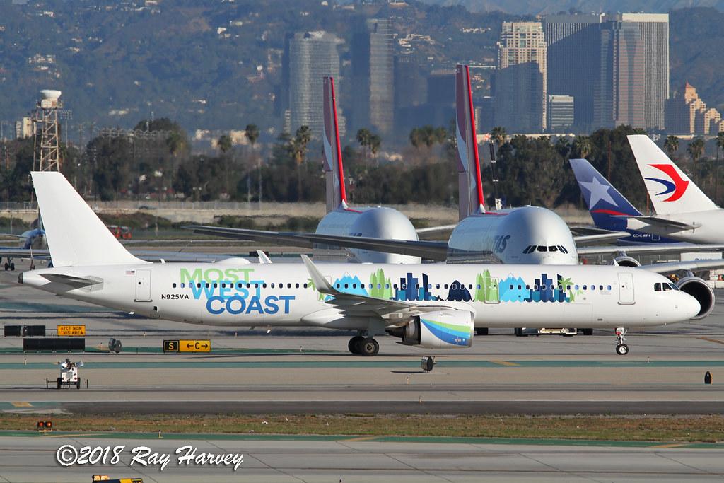 Most West Coast A321neo N925VA