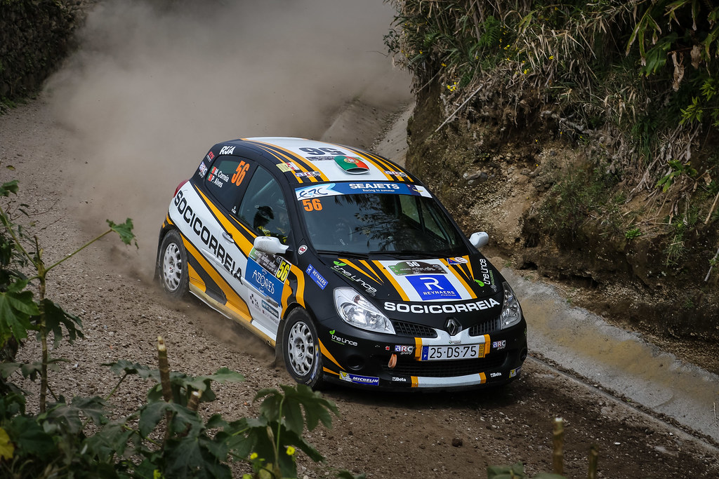 56 CORREIA MIGUEL (prt), ALVES Pedro (prt), Renault Clio R3 , action during the 2018 European Rally Championship ERC Azores rally,  from March 22 to 24, at Ponta Delgada Portugal - Photo Jorge Cunha / DPPI