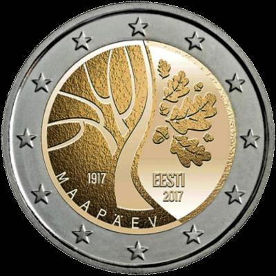 2 Euro Estónsko 2017, Estónska nezávislosť