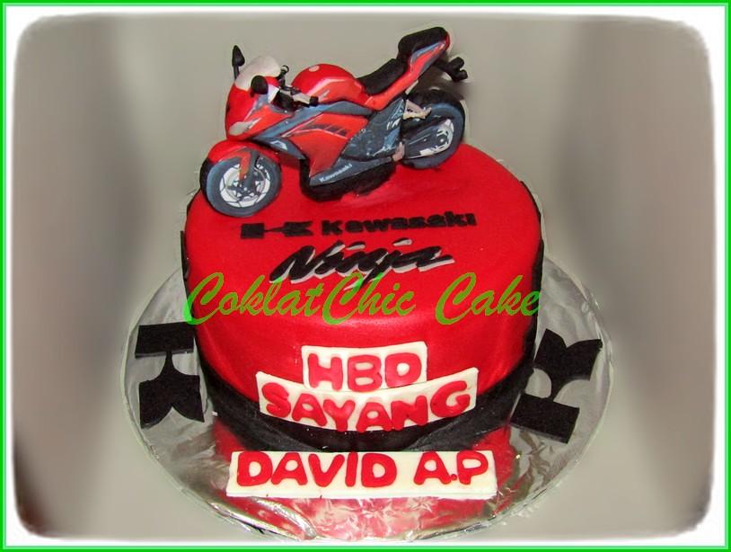Cake Motor Kawasaki Ninja DAVID 15 cm