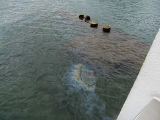 Oil still leaks from the USS Arizona