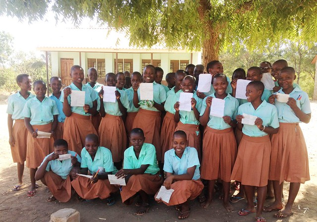Feedback from the girls at Chije Primary School